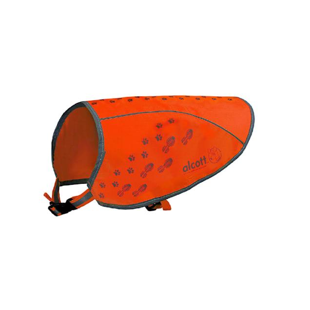 alcott Neon Orange Visibility Dog Vest, Small - Carousel image #1