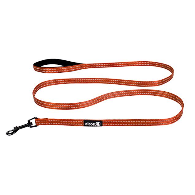 "alcott Neon Orange Visibility Dog Leash, 72"" L, Small - Carousel image #1"