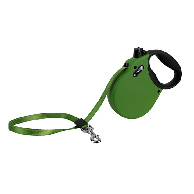 alcott Green Adventure Retractable Dog Leash for Dogs Up To 65 lbs., 16 ft. - Carousel image #1
