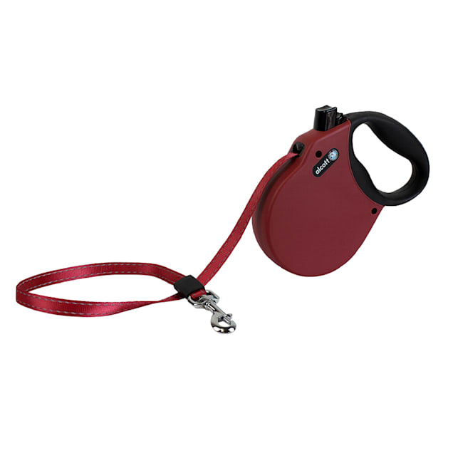 alcott Red Adventure Retractable Dog Leash for Dogs Up To 65 lbs., 16 ft. - Carousel image #1