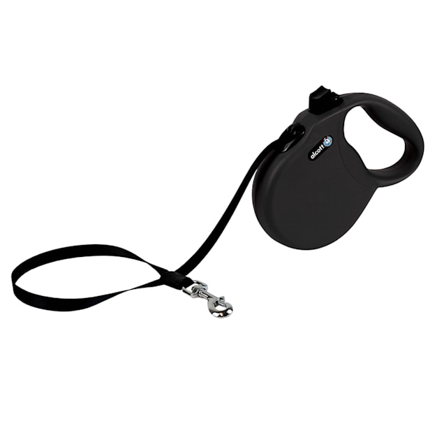 alcott Black Wanderer Retractable Dog Leash for Dogs Up To 65 lbs., 16 ft. - Carousel image #1