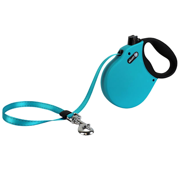 alcott Blue Adventure Retractable Dog Leash for Dogs Up To 110 lbs., 16 ft. - Carousel image #1