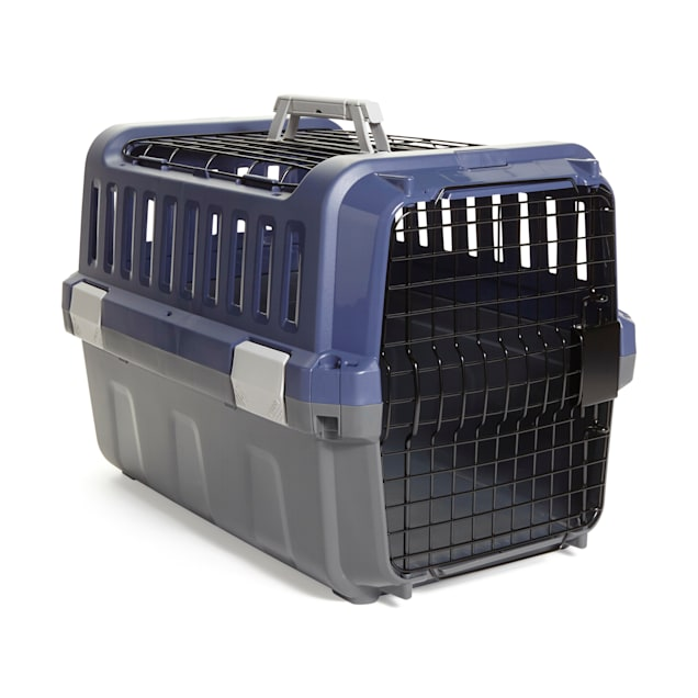 """EveryYay Going Places Navy & Grey 2-Door Pet Kennel, 21.5"""" L X 14.2"""" W X 14.2"""" H - Carousel image #1"""