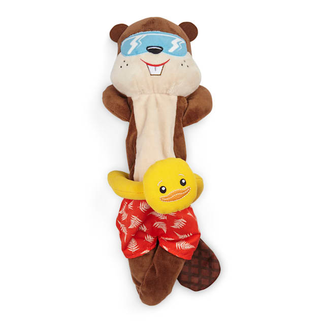 YOULY Started As A Bottle Recycled & Reinvented Otter Worldly T-Shirt Stuffer Dog Toy, Large - Carousel image #1