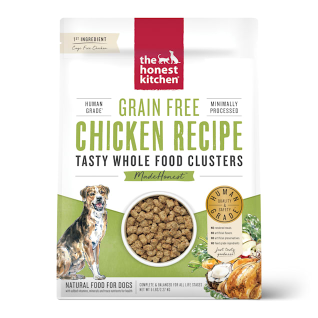 The Honest Kitchen Whole Food Clusters Grain Free Chicken Dry Dog Food, 5 lbs. - Carousel image #1