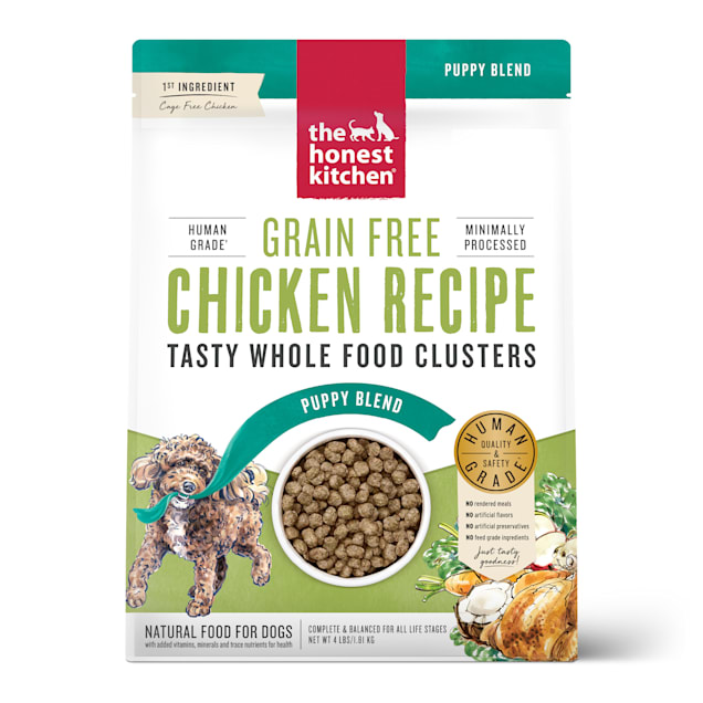The Honest Kitchen Whole Food Clusters Puppy Grain Free Chicken Dry Dog Food, 4 lbs. - Carousel image #1