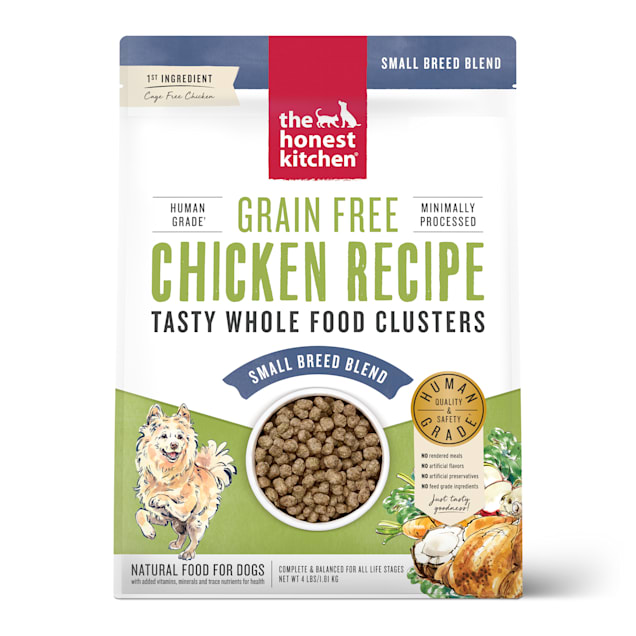The Honest Kitchen Whole Food Clusters Small Breed Grain Free Chicken Dry Dog Food, 4 lbs. - Carousel image #1