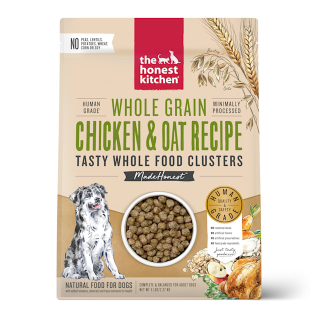 The Honest Kitchen Whole Food Clusters Whole Grain Chicken & Oat Recipe Dry Dog Food, 5 lbs. - Carousel image #1