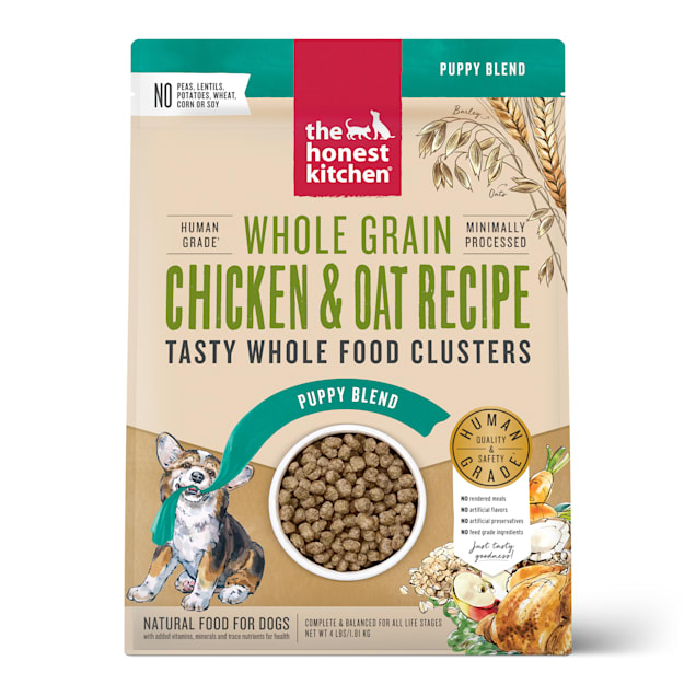 The Honest Kitchen Whole Food Clusters Puppy Whole Grain Chicken & Oat Recipe Dry Dog Food, 4 lbs. - Carousel image #1