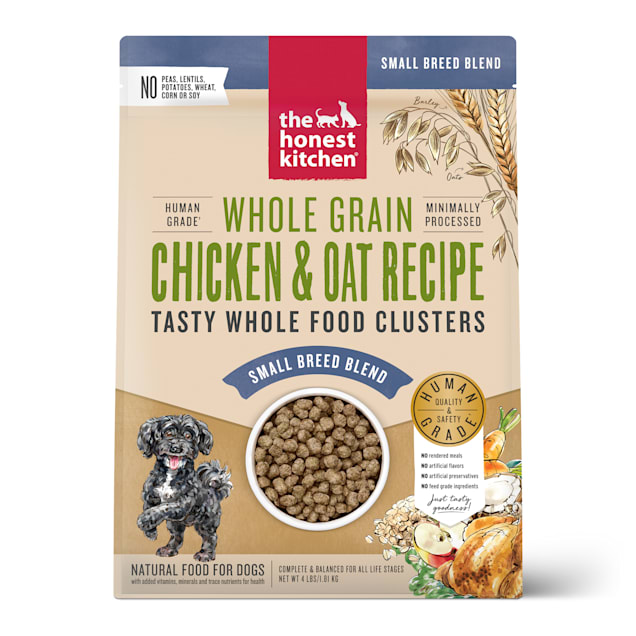 The Honest Kitchen Whole Food Clusters Small Breed Whole Grain Chicken & Oat Recipe Dry Dog Food, 4 lbs. - Carousel image #1