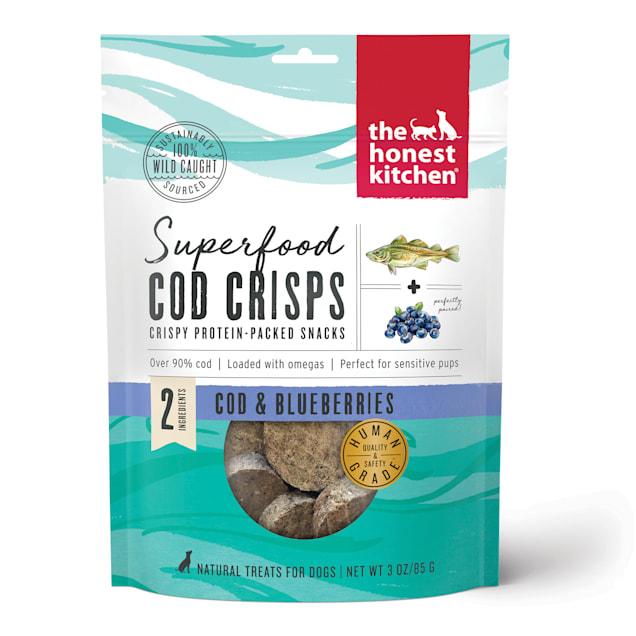 The Honest Kitchen Superfood Cod Crisps: Cod & Blueberry Dog Treats, 3 oz. - Carousel image #1