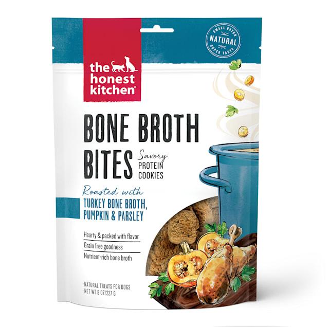 The Honest Kitchen Bone Broth Bites: Roasted with Turkey Bone Broth, Pumpkin & Parsley Dog Treats, 8 oz. - Carousel image #1