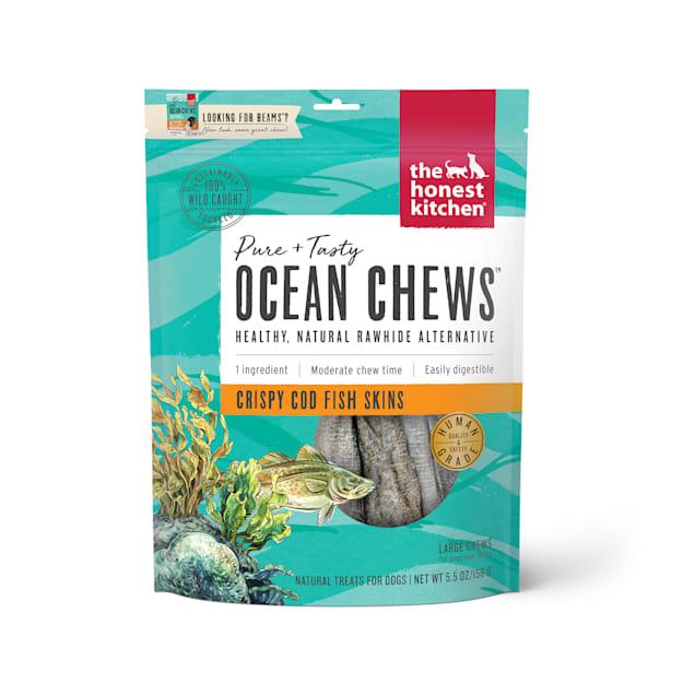The Honest Kitchen Ocean Chews Crispy Cod Fish Skins Dog Treats, 5.5 oz. - Carousel image #1