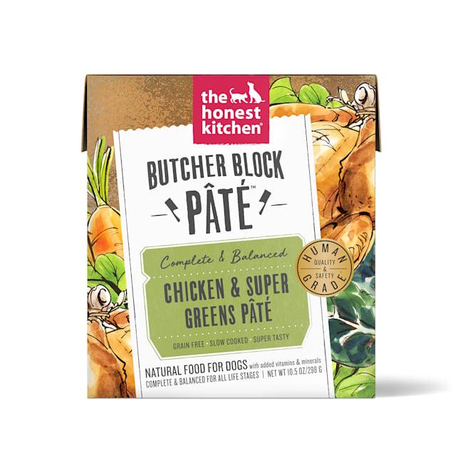 The Honest Kitchen Butcher Block Pate: Chicken & Super Greens Pate Wet Dog Food, 10.5 oz., Case of 6 - Carousel image #1