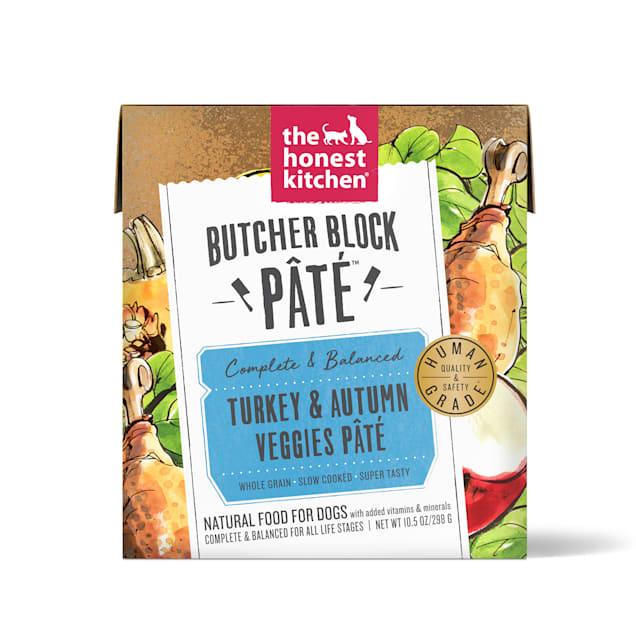 The Honest Kitchen Butcher Block Pate: Turkey & Autumn Veggies Pate Wet Dog Food, 10.5 oz., Case of 6 - Carousel image #1