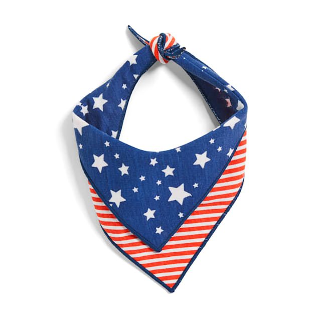 YOULY The Citizen Americana Collection USA Star & Striped Dog Bandana, X-Small/Small - Carousel image #1