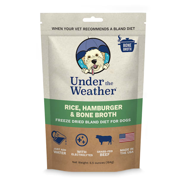 Under the Weather Rice, Hamburger & Bone Broth Freeze-Dried Bland Diet for Dogs, 6.5 oz. - Carousel image #1