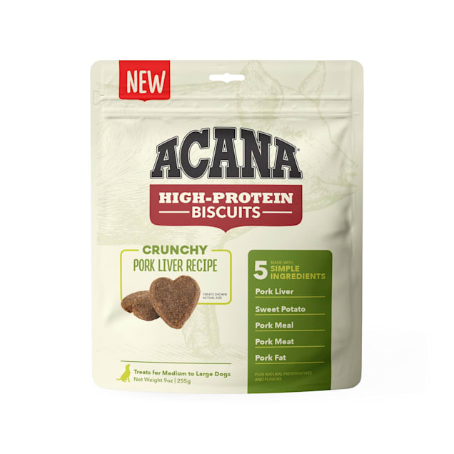 ACANA High Protein Crunchy Pork Liver Recipe Biscuits for Large Dogs, 9 oz. - Carousel image #1