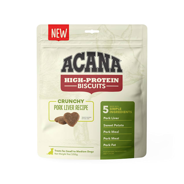 ACANA High Protein Crunchy Pork Liver Recipe Biscuits for Small Dogs, 9 oz. - Carousel image #1