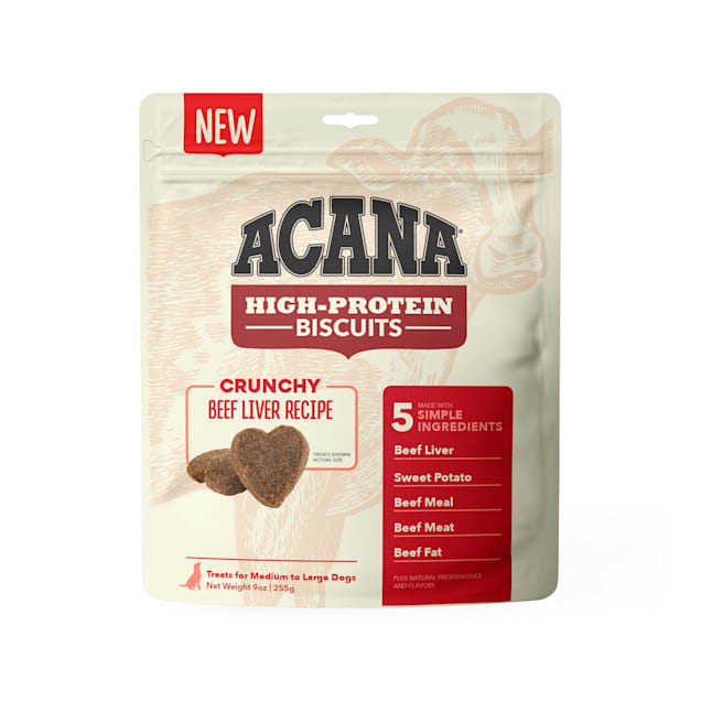 ACANA High Protein Crunchy Beef Liver Recipe Biscuits for Large Dogs, 9 oz. - Carousel image #1