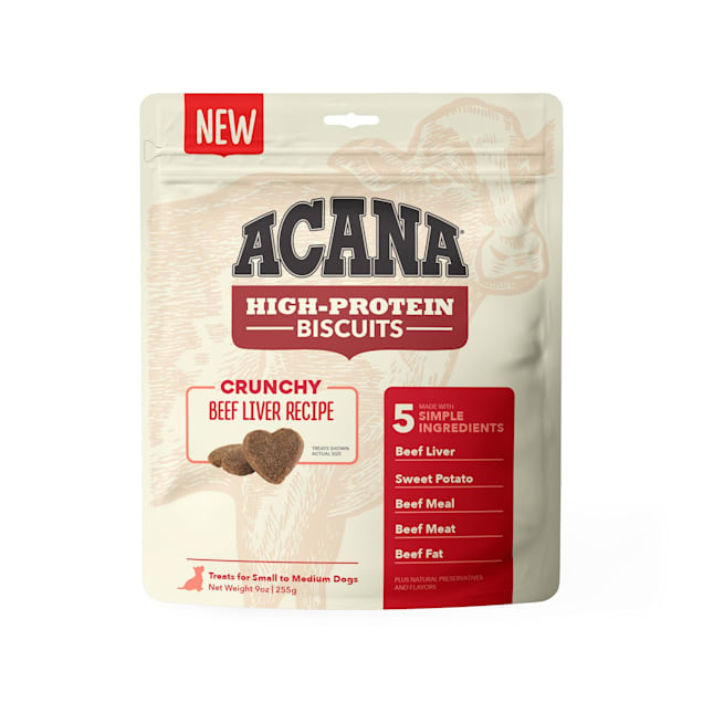 ACANA High Protein Crunchy Beef Liver Recipe Biscuits for Small Dogs, 9 oz. - Carousel image #1