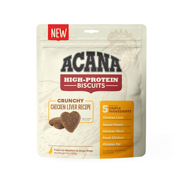 ACANA High Protein Crunchy Chicken Liver Recipe Biscuits for Large Dogs, 9 oz. - Carousel image #1
