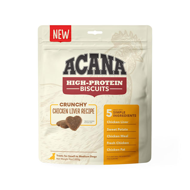 ACANA High Protein Crunchy Chicken Liver Recipe Biscuits for Small Dogs, 9 oz. - Carousel image #1