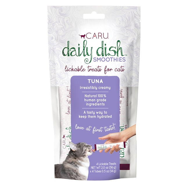 CARU Daily Dish Smoothie Tuna Lickable Cat Treats, 0.5 oz., Count of 4 - Carousel image #1