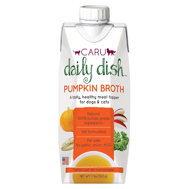 CARU Daily Dish Pumpkin Broth Meal Topper for Cats & Dogs, 17.6 oz. - Carousel image #1
