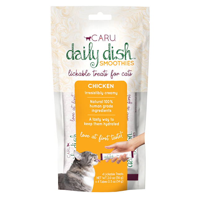 CARU Daily Dish Smoothie Chicken Lickable Cat Treats, 0.5 oz., Count of 4 - Carousel image #1