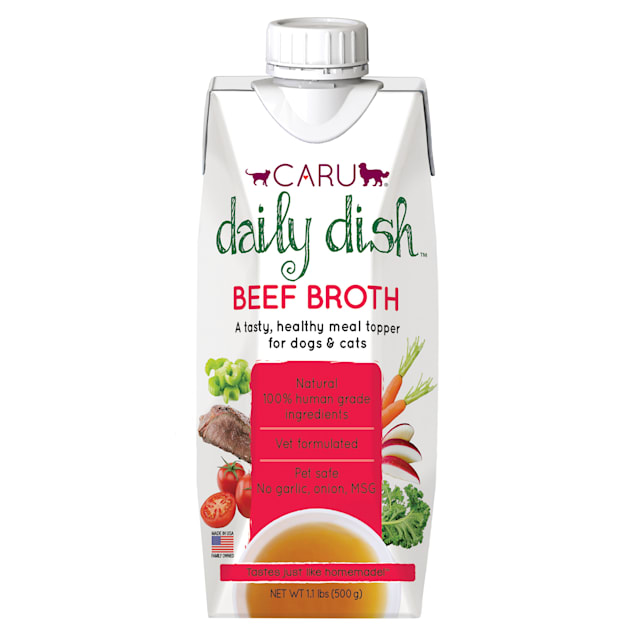 CARU Daily Dish Beef Broth Meal Topper for Cats & Dogs, 17.6 oz. - Carousel image #1