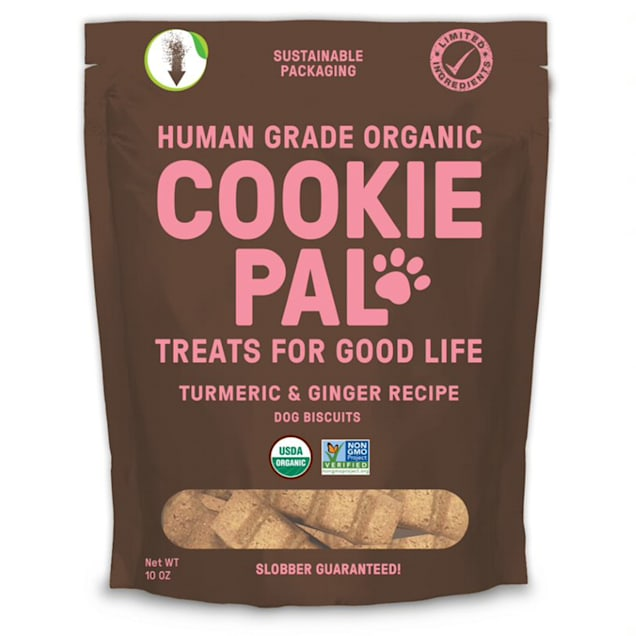 CookiePal Organic Turmeric and Ginger Recipe Dog Biscuits, 10 oz. - Carousel image #1
