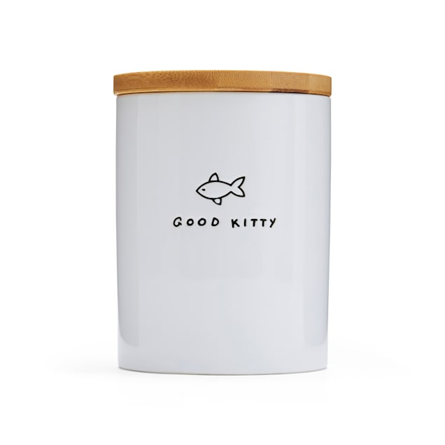 EveryYay Goody-Goody Good Kitty Ceramic Cat Treat Jar - Carousel image #1