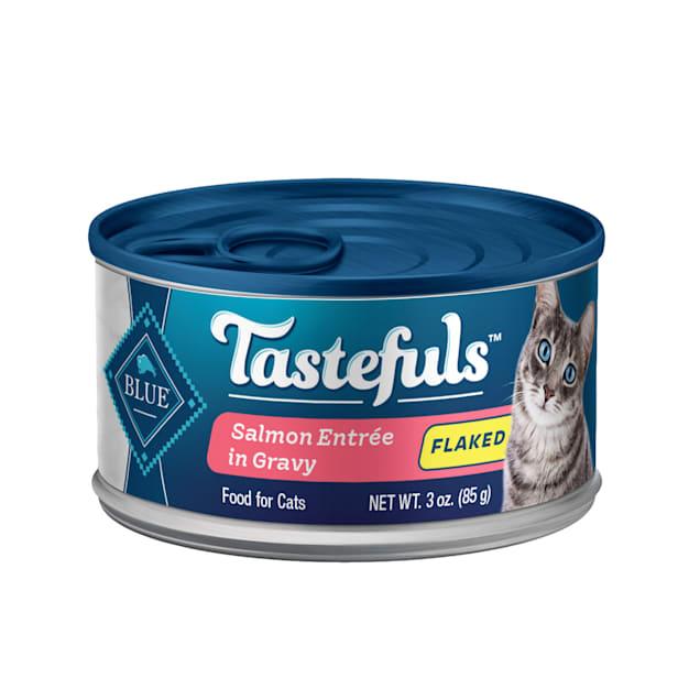 Blue Buffalo Blue Tastefuls Salmon Entree in Gravy Flaked Wet Cat Food, 3 oz., Case of 12 - Carousel image #1