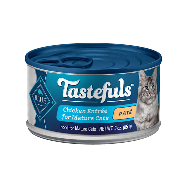 Blue Buffalo Blue Tastefuls Chicken Entree Pate Wet Food for Mature Cats, 3 oz., Case of 12 - Carousel image #1