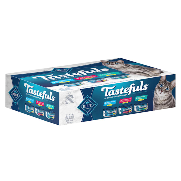 Blue Buffalo Blue Tastefuls Natural Adult Gravy Variety Pack Wet Cat Food, 5.5 oz., Count of 12 - Carousel image #1