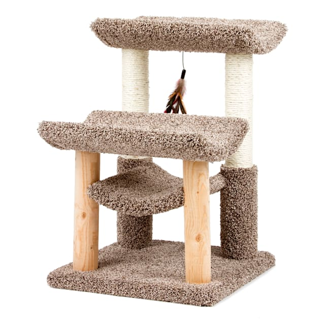 """Serene Feline 3 Tier Cat Lounger With Toy, 22.5"""" L X 19""""  W X 28"""" H - Carousel image #1"""