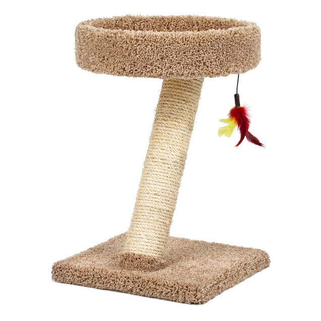 """Serene Feline Perch Post with Toy for Cats, 20"""" H - Carousel image #1"""