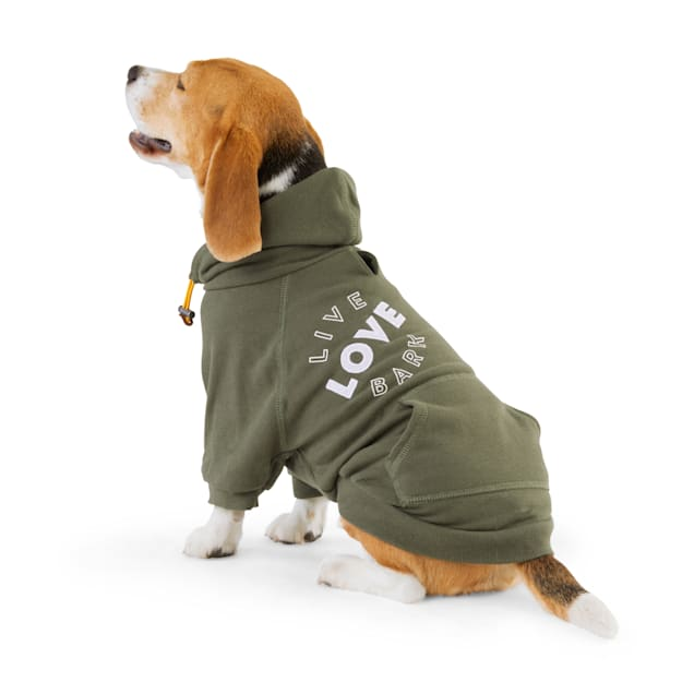 Reddy Olive Graphic Dog Hoodie, X-Small - Carousel image #1