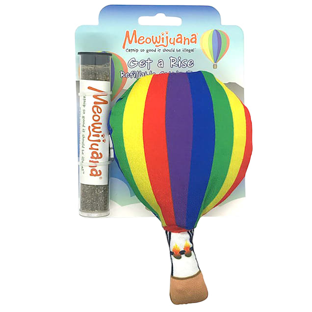 Meowijuana Get A Rise Refillable Balloon Cat Toy, Medium - Carousel image #1