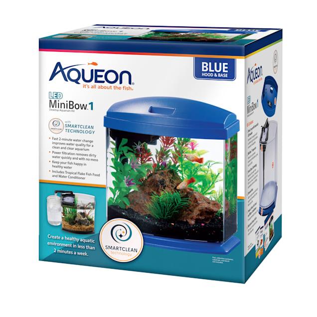 Aqueon Blue 1 Gallon LED MiniBow SmartClean Kit - Carousel image #1