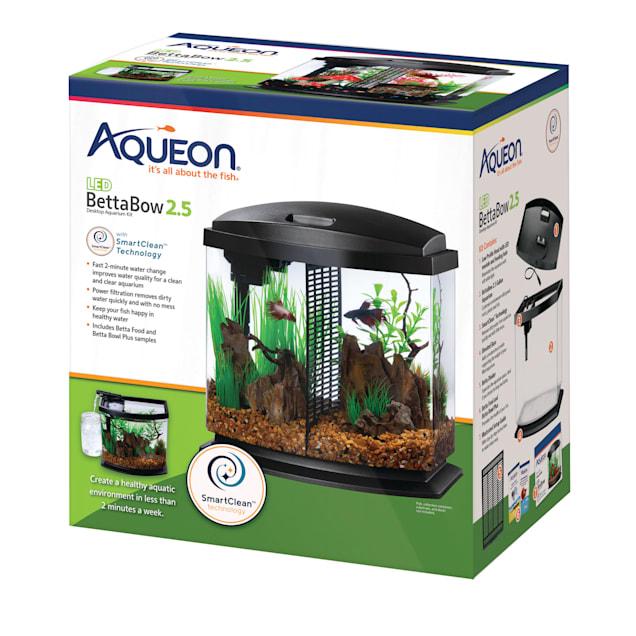 Aqueon Black 2.5 Gallon LED BettaBow SmartClean Kit - Carousel image #1