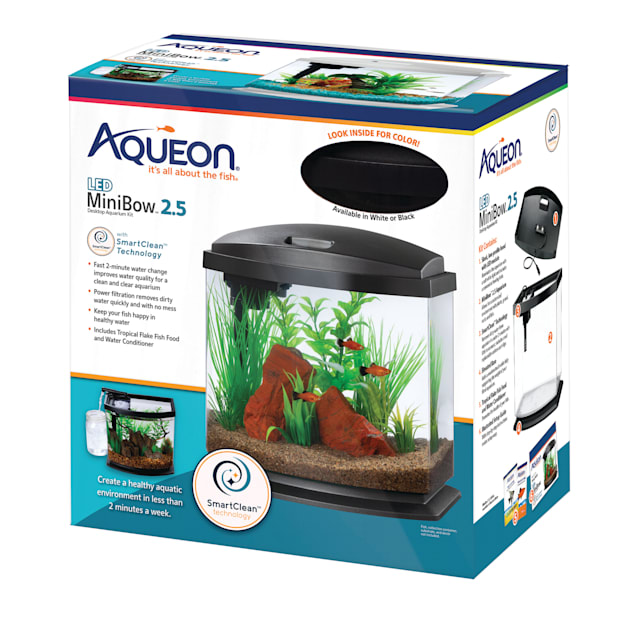 Aqueon Black 2.5 Gallon LED MiniBow SmartClean Kit - Carousel image #1