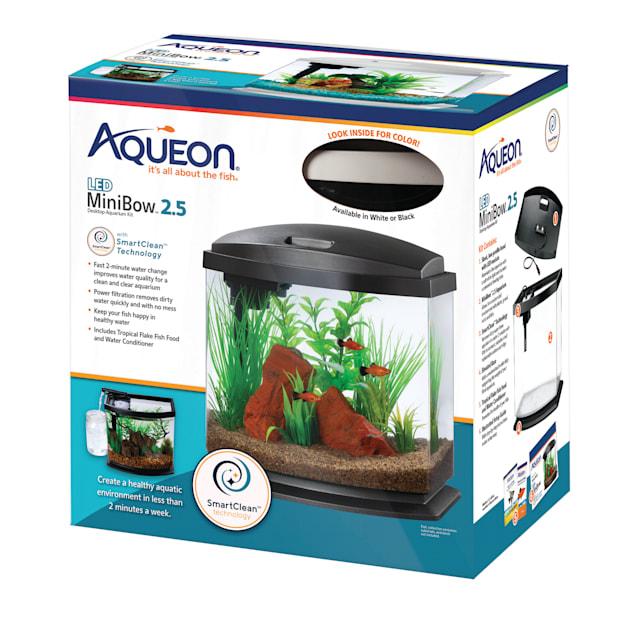 Aqueon White 2.5 Gallon LED MiniBow SmartClean Kit - Carousel image #1