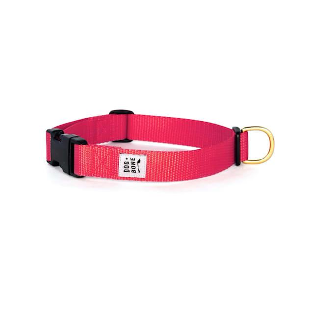 Dog + Bone Red Punch Snap Dog Collar, Small - Carousel image #1