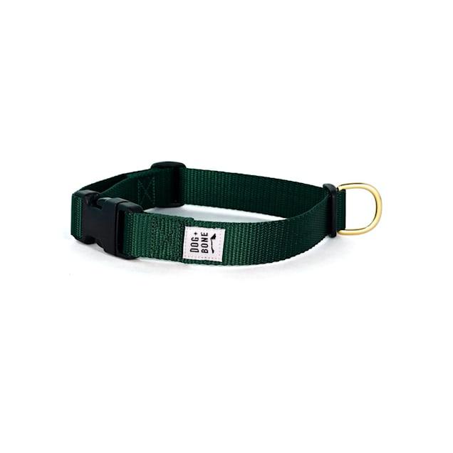 Dog + Bone Green Forest Snap Dog Collar, Small - Carousel image #1