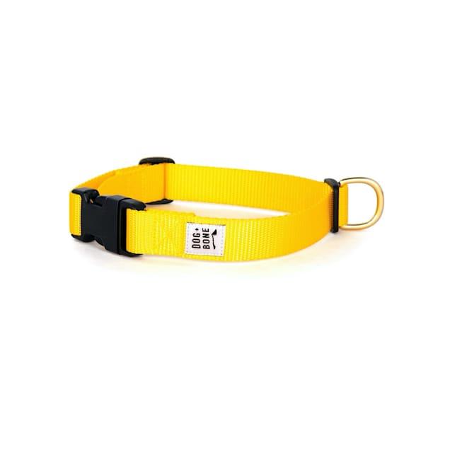 Dog + Bone Yellow Snap Dog Collar, Small - Carousel image #1
