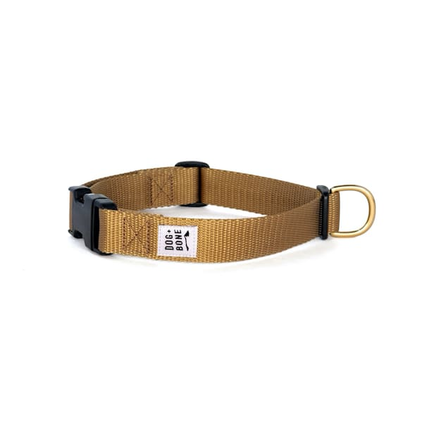 Dog + Bone Gold Snap Dog Collar, Small - Carousel image #1