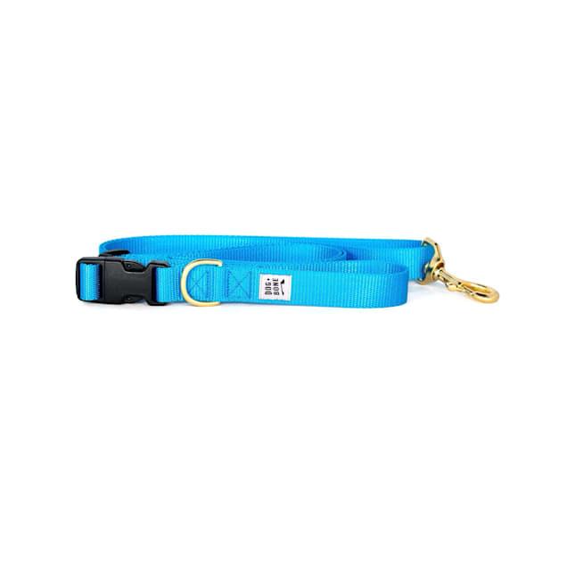 Dog + Bone Blue Adjustable Dog Leash - Carousel image #1