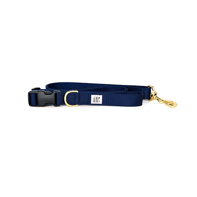 Dog + Bone Navy Adjustable Dog Leash - Carousel image #1